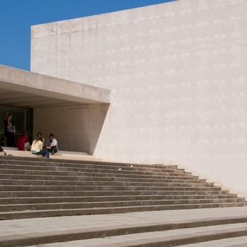 Entrada a un dels edificis de la Universitat de Girona, centre al que l'ERAM està adscrit