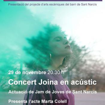 Divendres 29 de novembre, presentació de la Comissió d'arts escèniques del barri de Sant Narcís