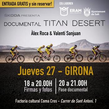 """L'ERAM i l'Ajuntament de Salt col·laboren amb la presentació del documental """"Àlex Roca-Titan Desert"""""""