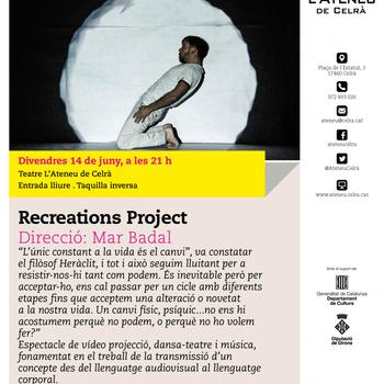 """Mar Badal estrena el 14 de juny a l'Ateneu de Celrà el projecte """"RecReations"""""""