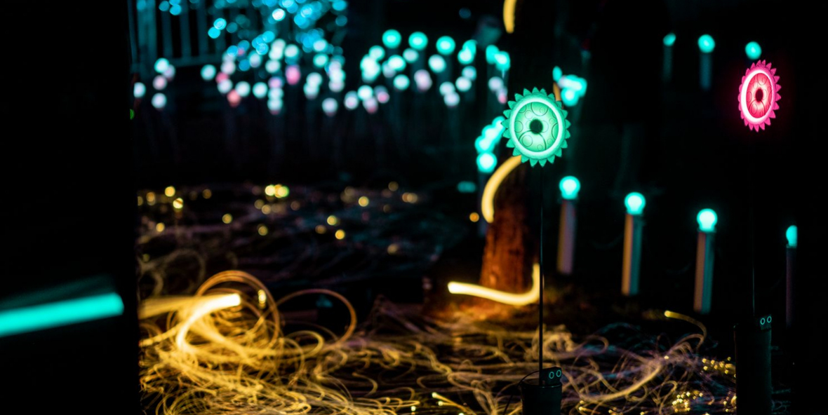 ÈTER, interactive project for the VIBRA 2018 Light Festival of Girona