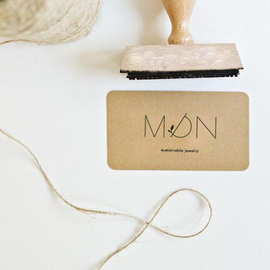 Creation of the design and corporative image of a new sustainable jewellery brand: MON - EU ERAM