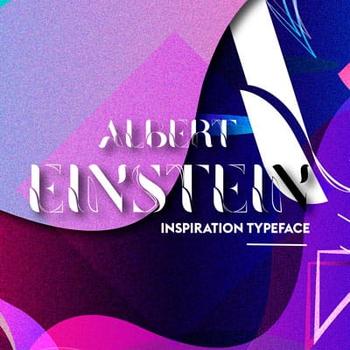 """""""Albert Typeface. Inspired by Albert Einstein"""""""