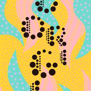 """Esther. A typeface inspired by Yayoi Kusama"""